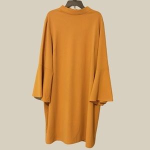 TASH+SOPHIE MOCK NECK BELL SLEEVE DRESS